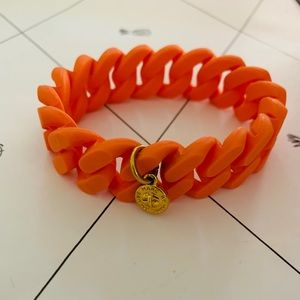 Marc by Marc Jacobs Orange Rubber Chain Bangle